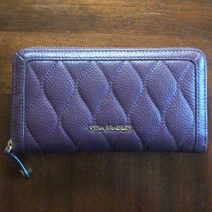 Purple Vera Bradley leather wallet